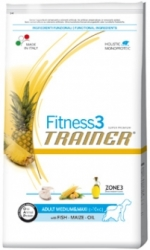 Trainer Fitness3 Adult Medium/Maxi Fish-Maize-Oil Kg.3