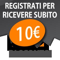 Registrati per ricevere lo sconto di 10 Euro!